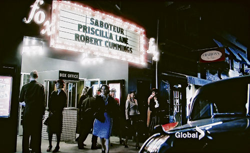 A scene from a recent episode of Bomb Girls was filmed at the Fox Theatre, an iconic Beach location.