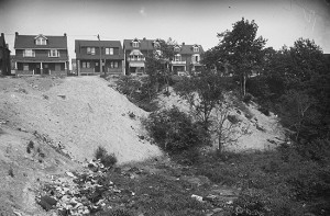 This archival photo shows an east-facing view of the state of East Lynn Park in the days before it was a well-loved, and well-used, community park. PHOTO: City of Toronto Archives, Series 372, subseries 1, Item 554