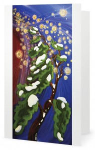Michelle Threndyle is selling cards with seasonal artwork.