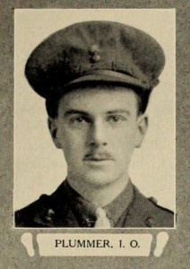 J.O. Plummer, photo from Upper Canada College's War Book of UCC.