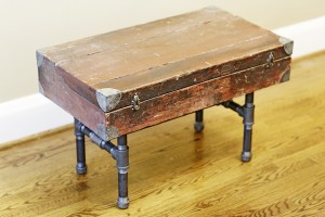 Use the top of an old trunk for a different look. PHOTO: Christine Roberts